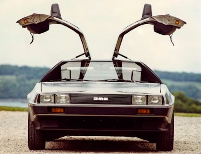 'Open wide'! A DeLorean DMC-12 showing off its gullwing doors. (Photo courtesy Virtual Motorpix).