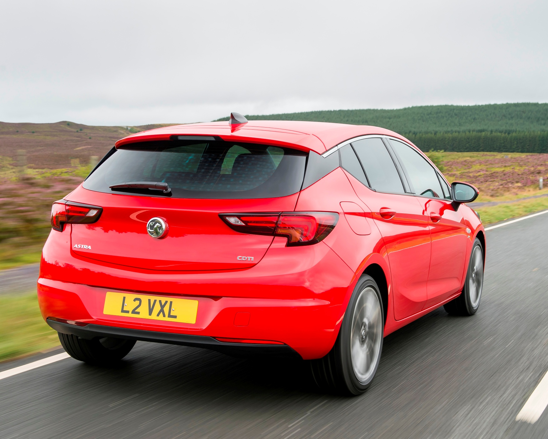 Vauxhall Astra rear side action