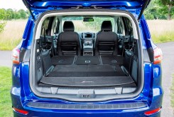 Ford S-Max second- and third-row seats can be folded with the push of a button. copy