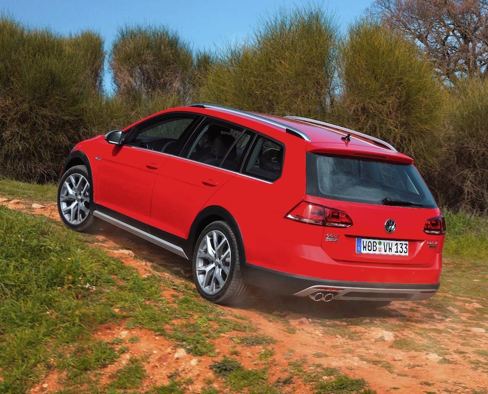 VW Golf Estate Alltrack side rear off road action copy