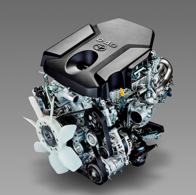 Toyota Hilux new D-4D 2.4-litre diesel engine copy