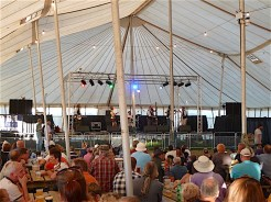 'Blackwater County' played entertaining sets in the Michael Oliver marquee...