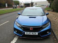Honda's Civic Type-R GT outside its Swindon production home.