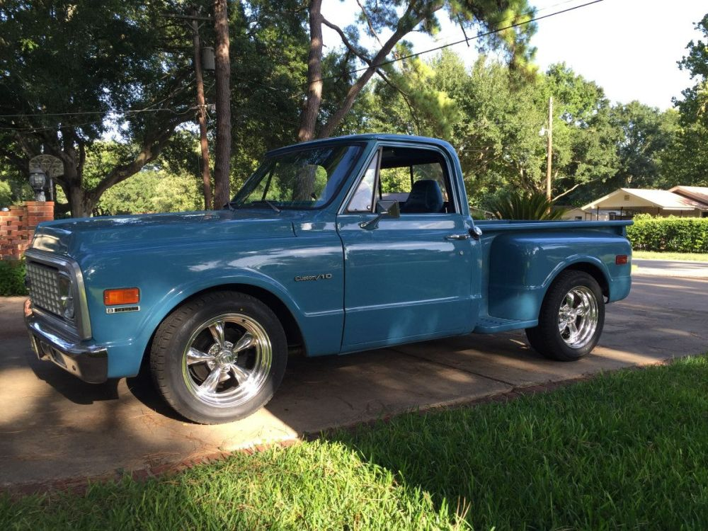 medium resolution of 1971 chevy c10 with 18x8 and 18x9 torq thrust ii s running 235 55r18 and 255 55r18 tires