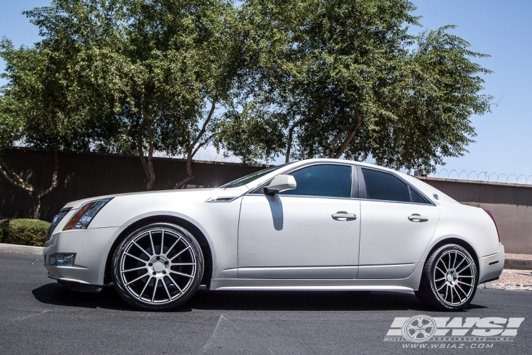 2012 Cadillac CTS With 20 Savini Cast BM 9 In Silver