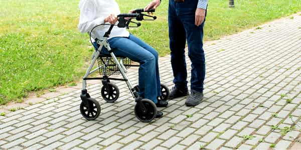 Sit-On-A-Transport-Rollator-Walker