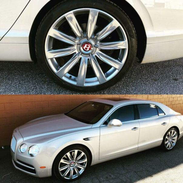 Polished wheel on this Bentley