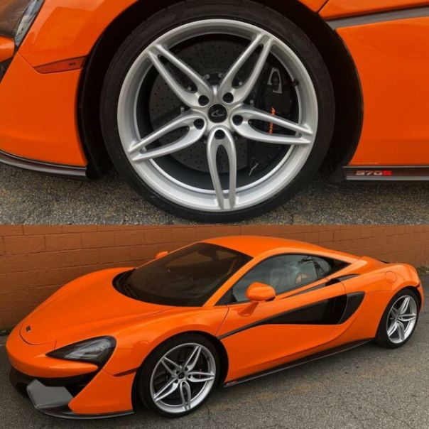 Silver wheels by Wheel Wizard ATL on this McLaren 507s