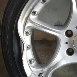 Before Repair: Bent Wheel