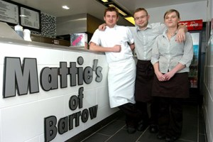 Matties Fish & Chip Shop. Barrow-in-Furness.