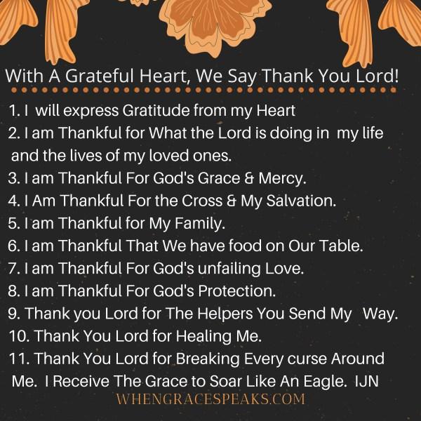 November powerful Biblical Affirmations
