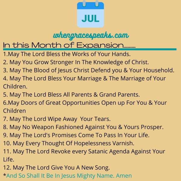 JULY DECLARATIONS