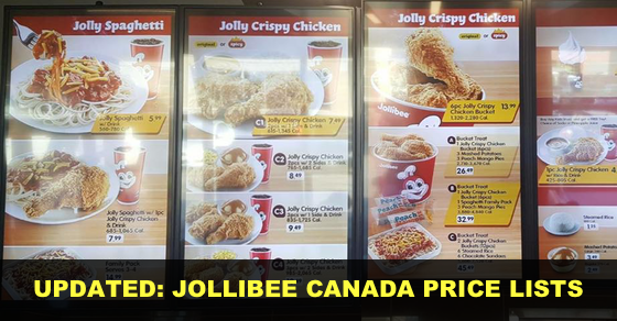 Look Jollibee Canada Menu Lists And Prices When In Winnipeg Ywg