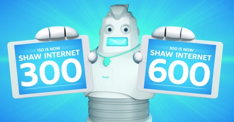 shaw doubling down the speed of two popular internet plans