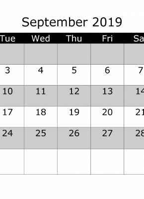 March 2019 Printable Monthly Calendar With Week Numbers