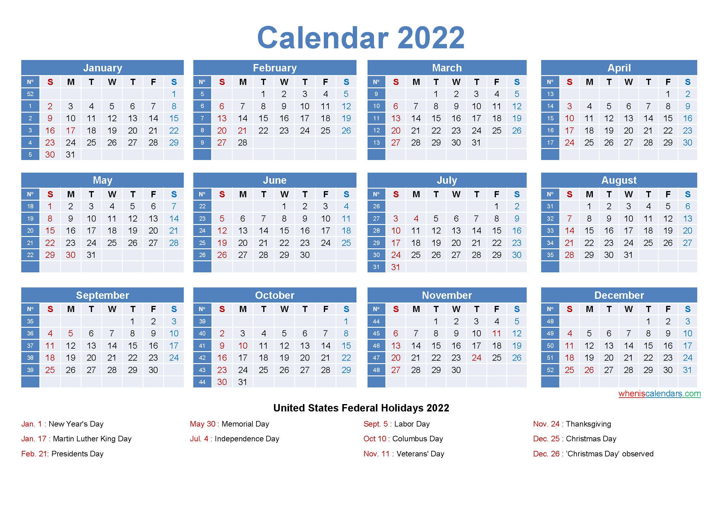 You can find the quick links to our very best free printable 2022 calendars pdf towards the end of the post. Large Desk Calendar 2022 with Holidays