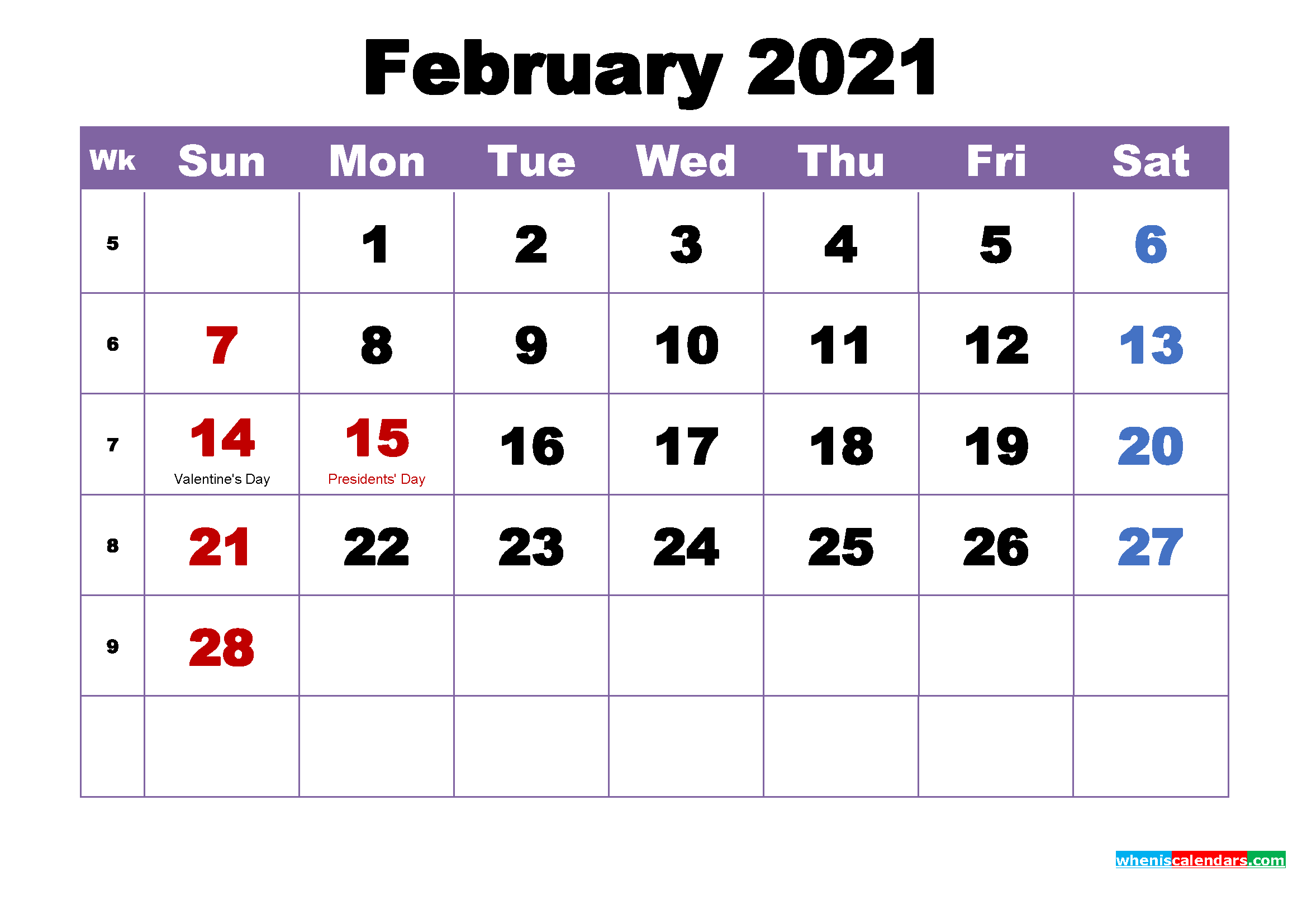 The spruce / lisa fasol these free, printable calendars for 2021 won't just keep you organized; February 2021 Printable Calendar with Holidays Word, PDF