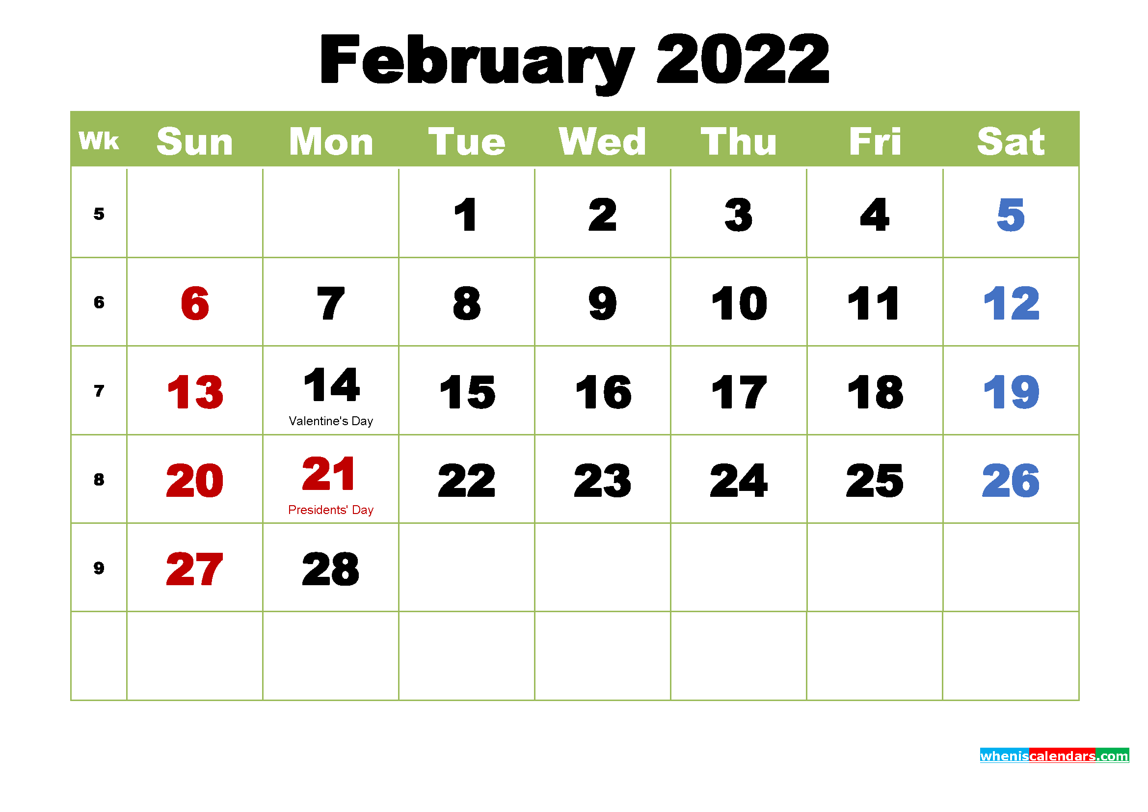 We are proud to offer a variety of seminars and programs that are pertinent to the varied work we do. Free February 2022 Printable Calendar with Holidays