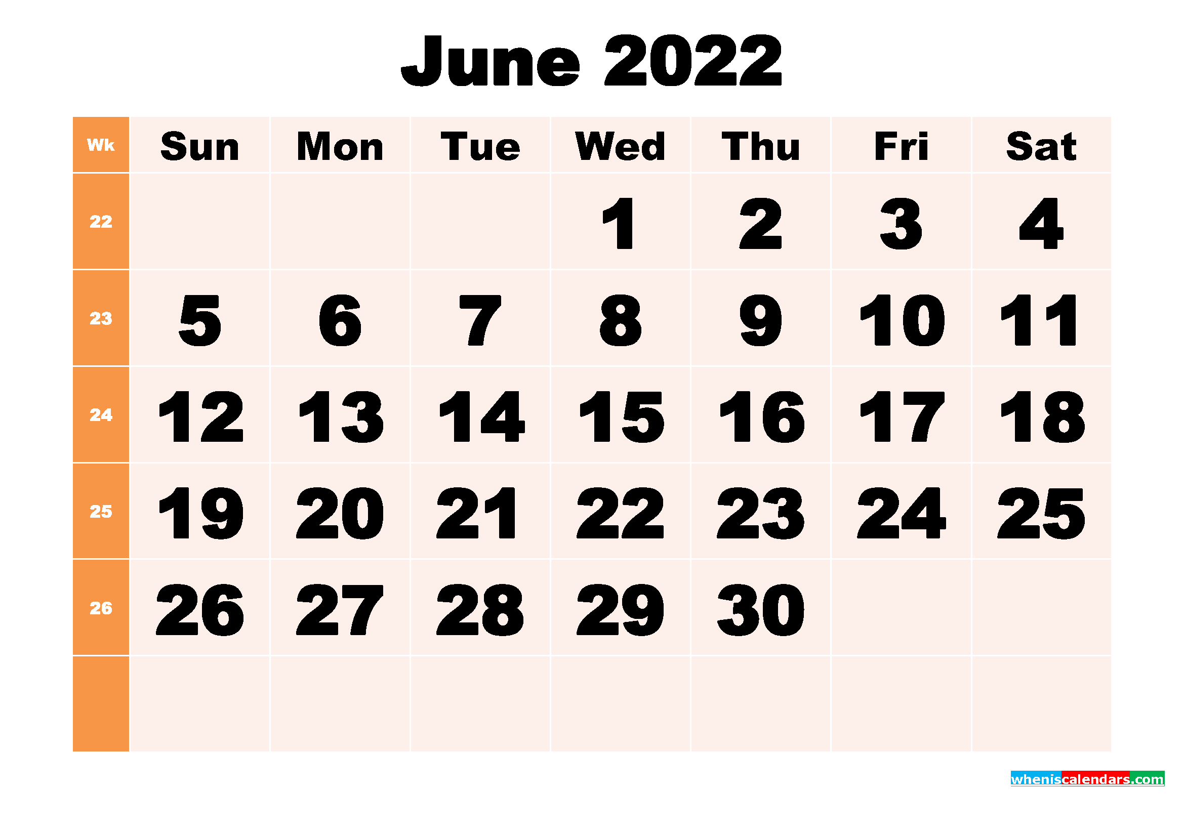 Print the calendar and mark the important dates, events, holidays, etc. Free Printable June 2022 Calendar Template Word, PDF