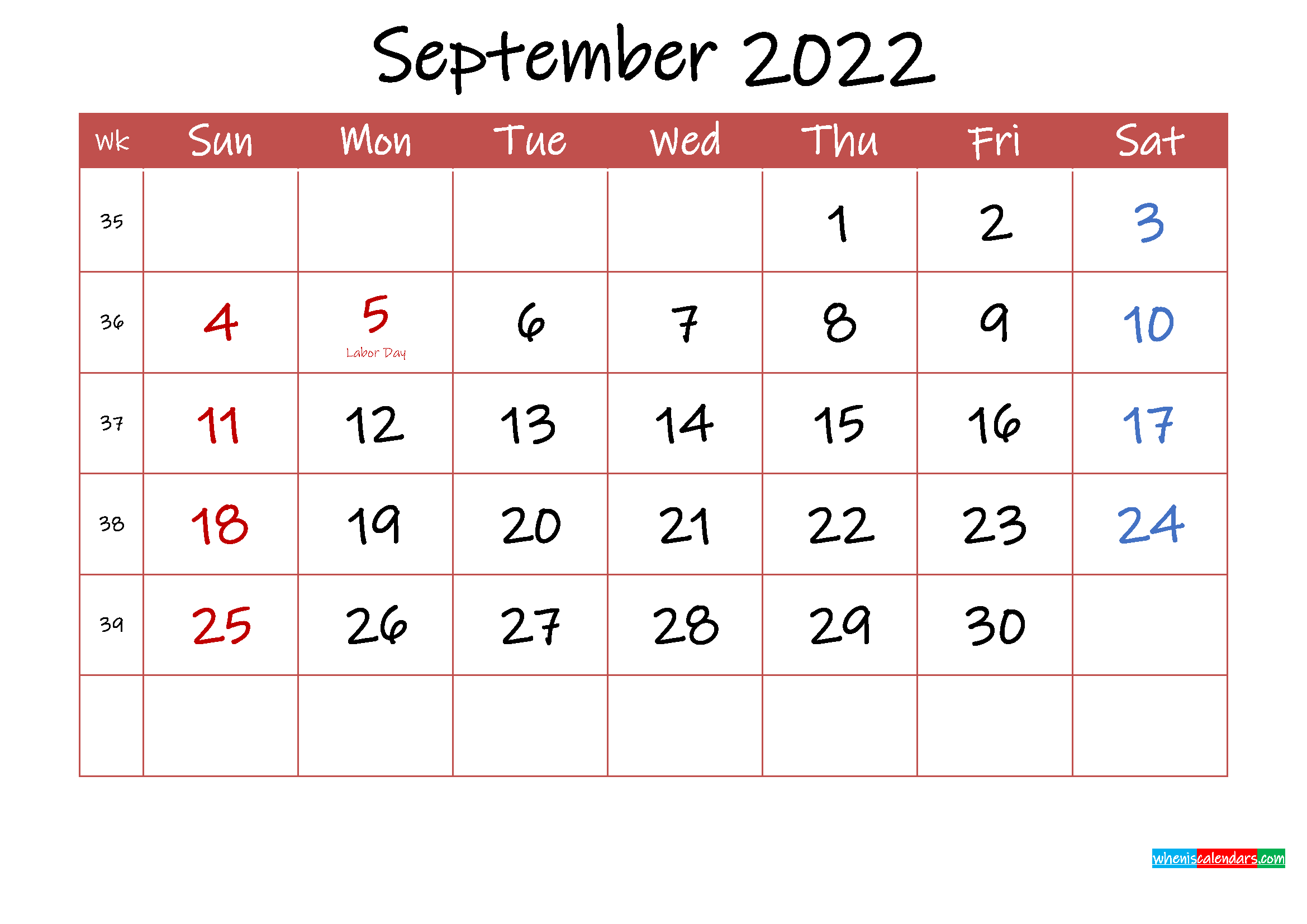 We created this fun floral calendar years ago and we keep repurposing it each year so that you can use the same floral design for the year if you like. Printable September 2022 Calendar with Holidays - Template ...