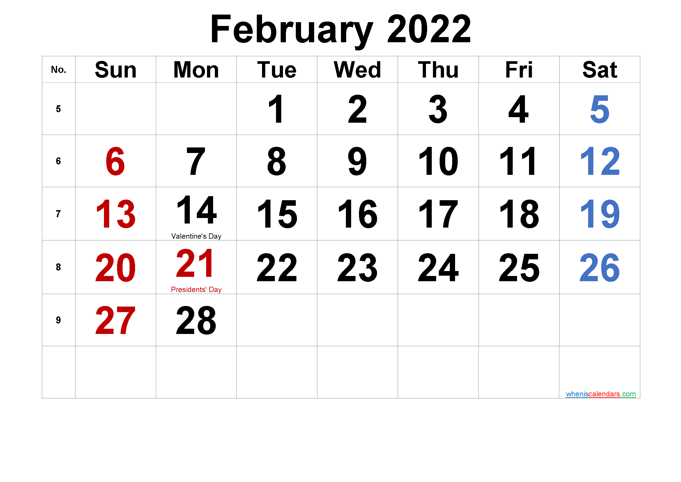 DECEMBER 2022 Printable Calendar with Holidays - 6 ...