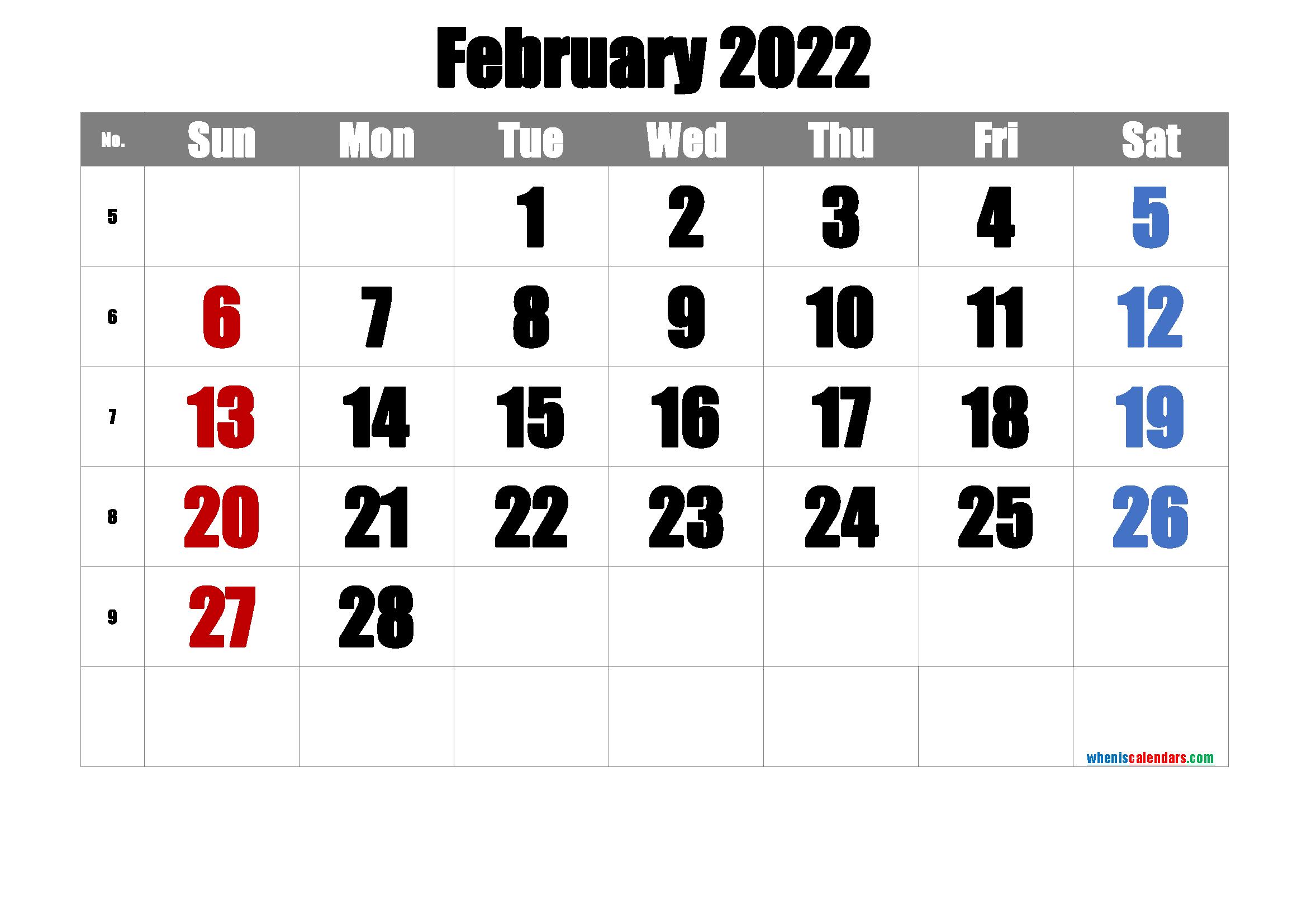 For busy families, calendars serve a much gr. Printable Calendar February 2022 Free Premium