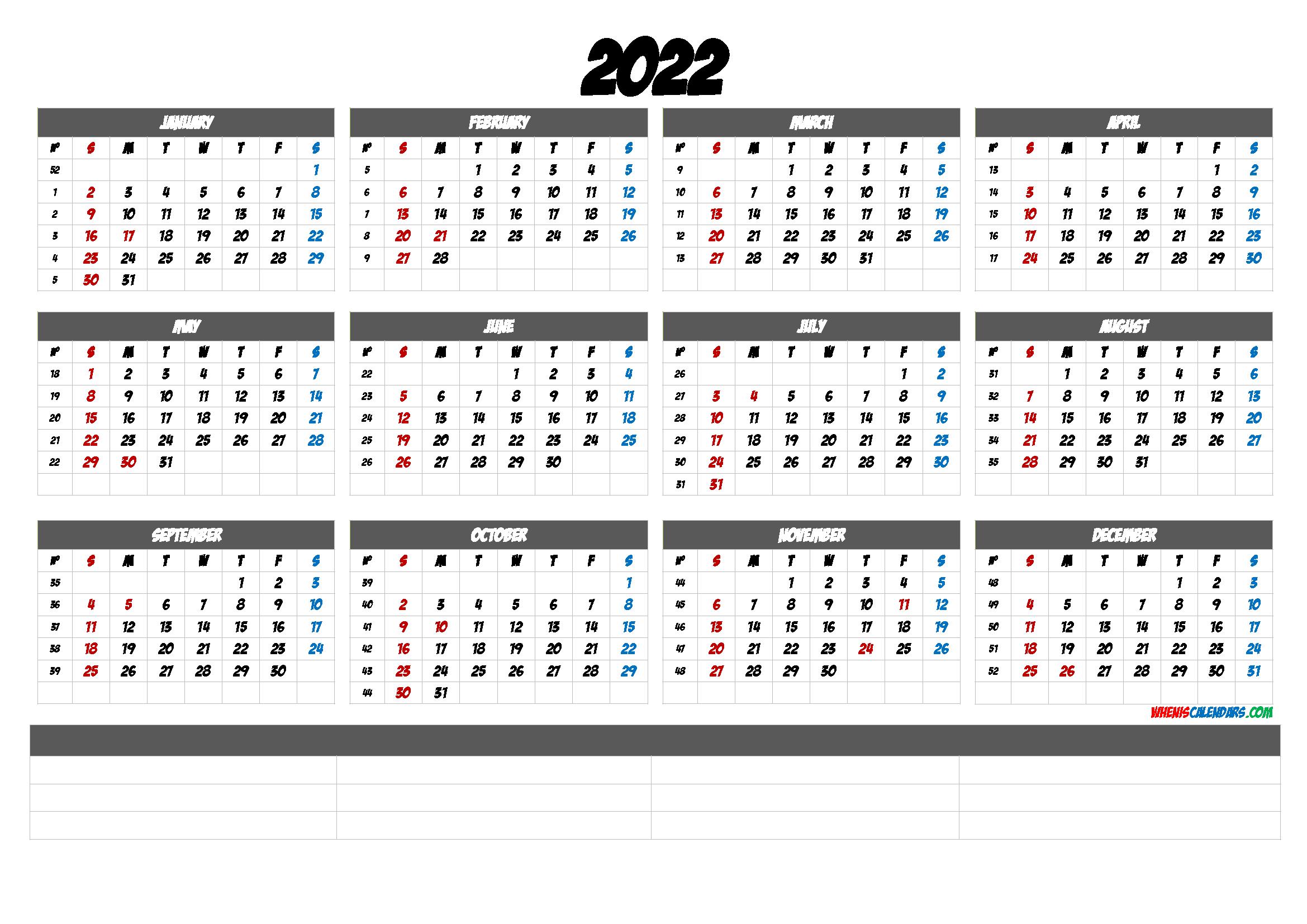 Cute Printable Calendar 2022 (6 Templates) - Free 2020 and ...