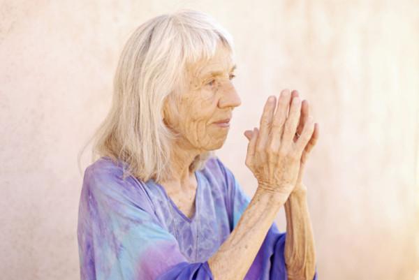 Senior Woman Namaste