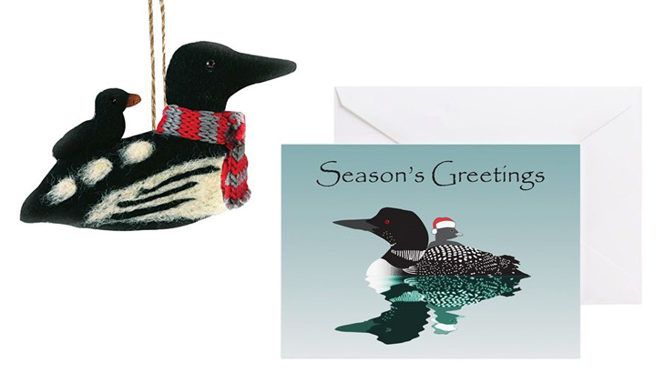 Loon Christmas Cards and Ornaments