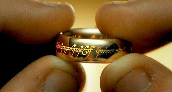 Like this Ring, except it's a Number. Image: http://lotr.wikia.com/