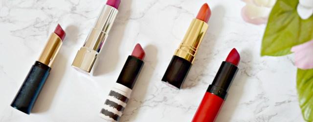 Drugstore Autumn Lipsticks