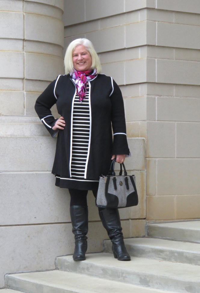 Over 40 and over size 12 but still looking stylish and feeling confident! #affiliate link sweater: http://shopstyle.it/l/yQOa Blog: whenthegirlsrule.com Instagram: https://www.instagram.com/when_the_girls_rule/