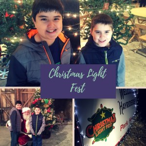 Christmas Light Fest at the Don Strange Ranch in Boerne, TX
