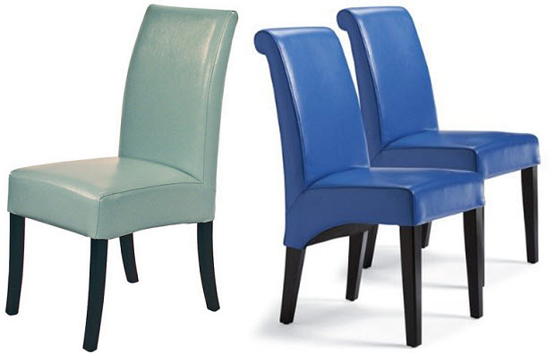 Dining Chair in Blue Leather  WhereIBuyItcom