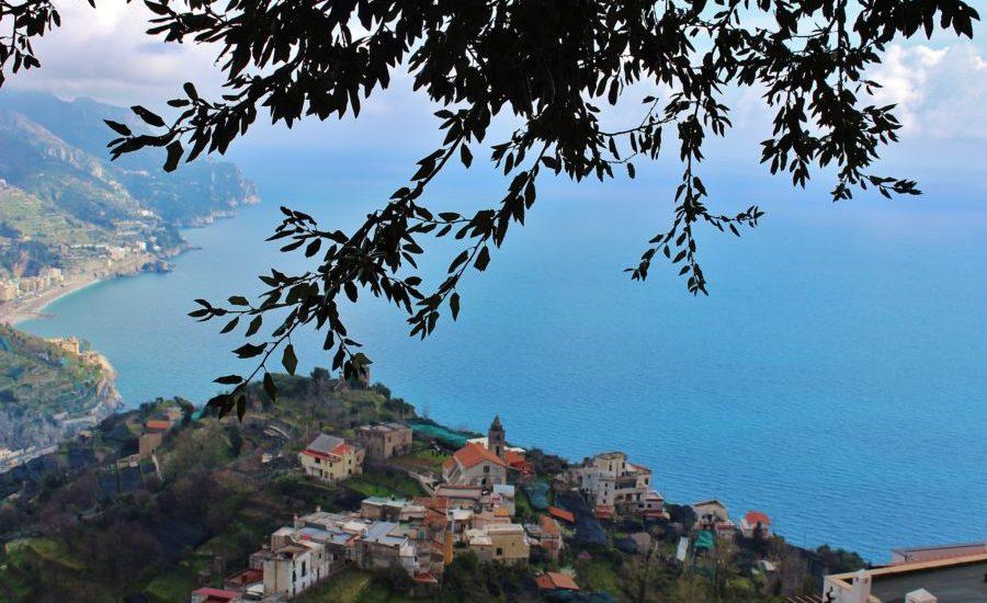 panorama sul mare da Ravello