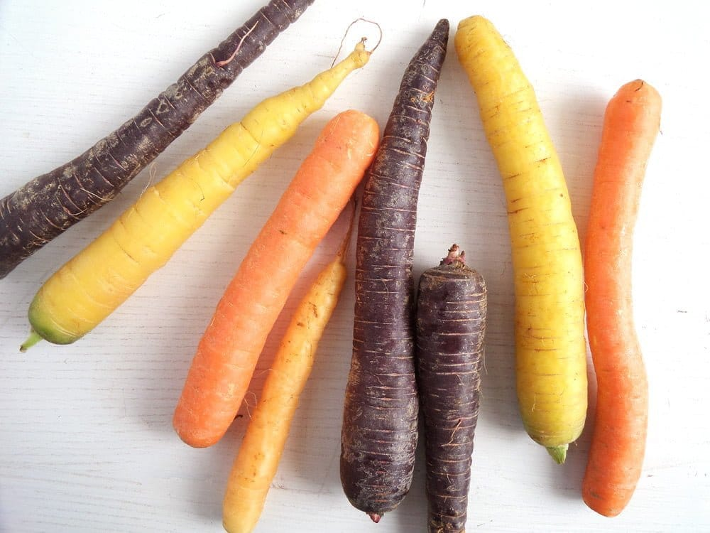 carrots colorful Honey Glazed Carrots With Tahini Dip