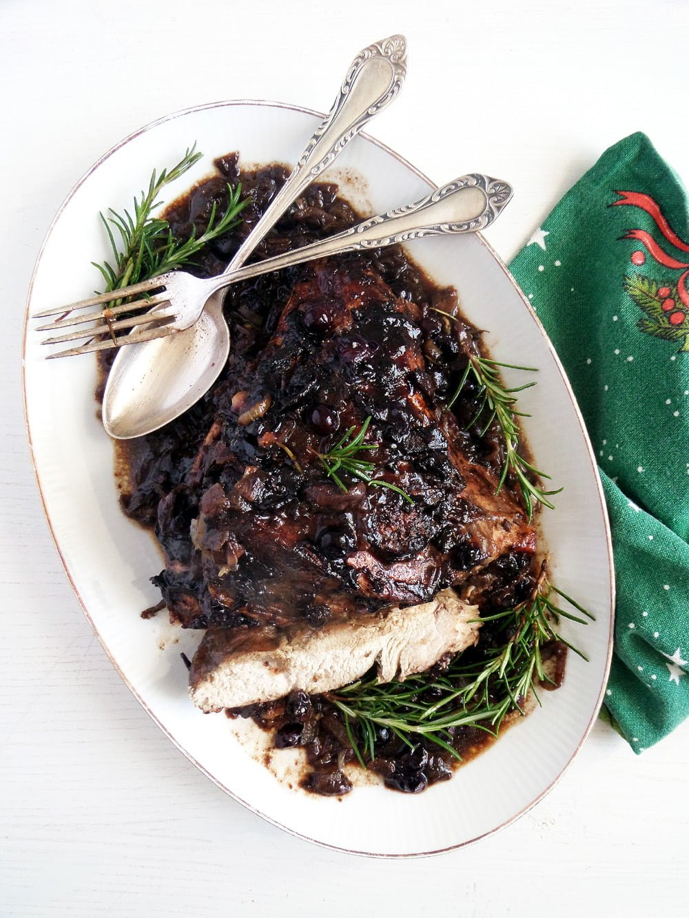turkey blueberries sauce Turkey Breast In Blueberry Balsamic Sauce
