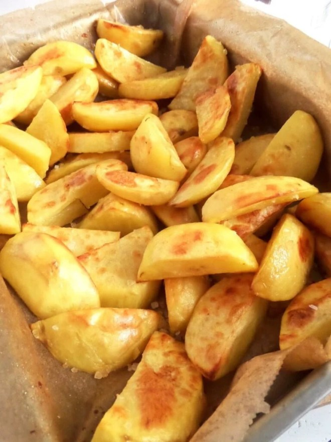 roasted potatoes cottage ch 768x1024 Golden Roasted Potatoes with Avocado Dip