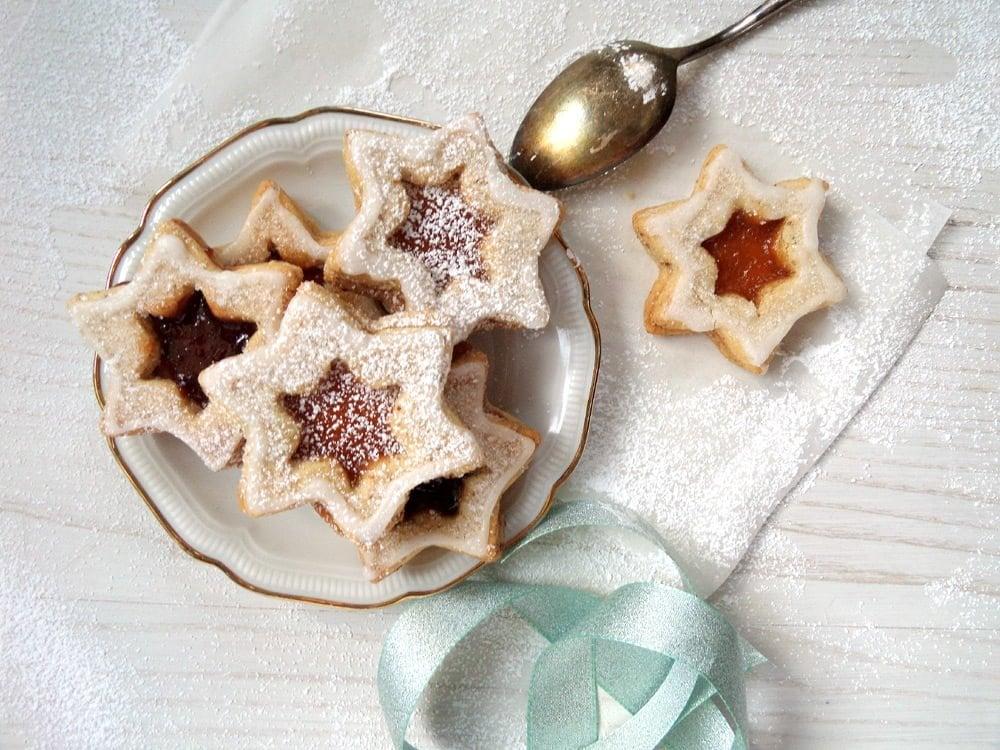 star cookies pl%C3%A4tzchen Spitzbuben Cookies