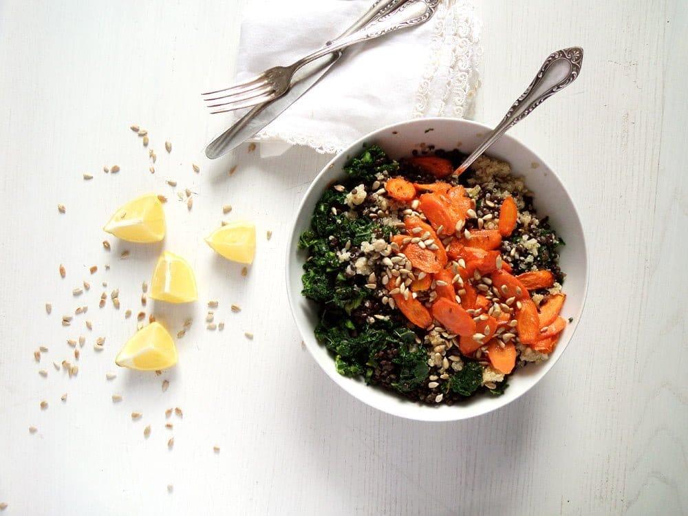 lentil kale salad Lentil Quinoa Carrot Salad