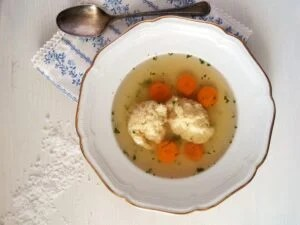 chicken stock dumplings 300x225 How to Make Bone Broth and Turkey Pesto Meatball Soup
