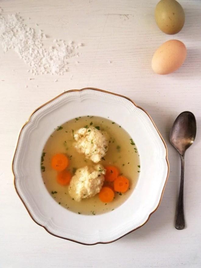 chicken stock semolina 768x1024 How to Make Chicken Stock and Romanian Semolina Dumpling Soup