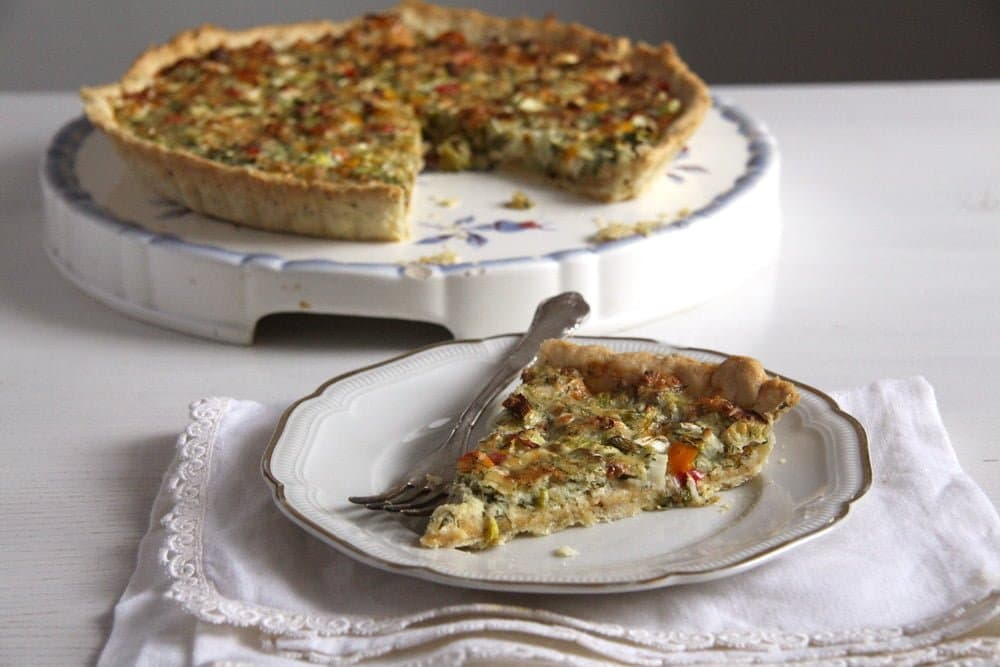 quiche cheese onions Green Onion and Cheese Quiche