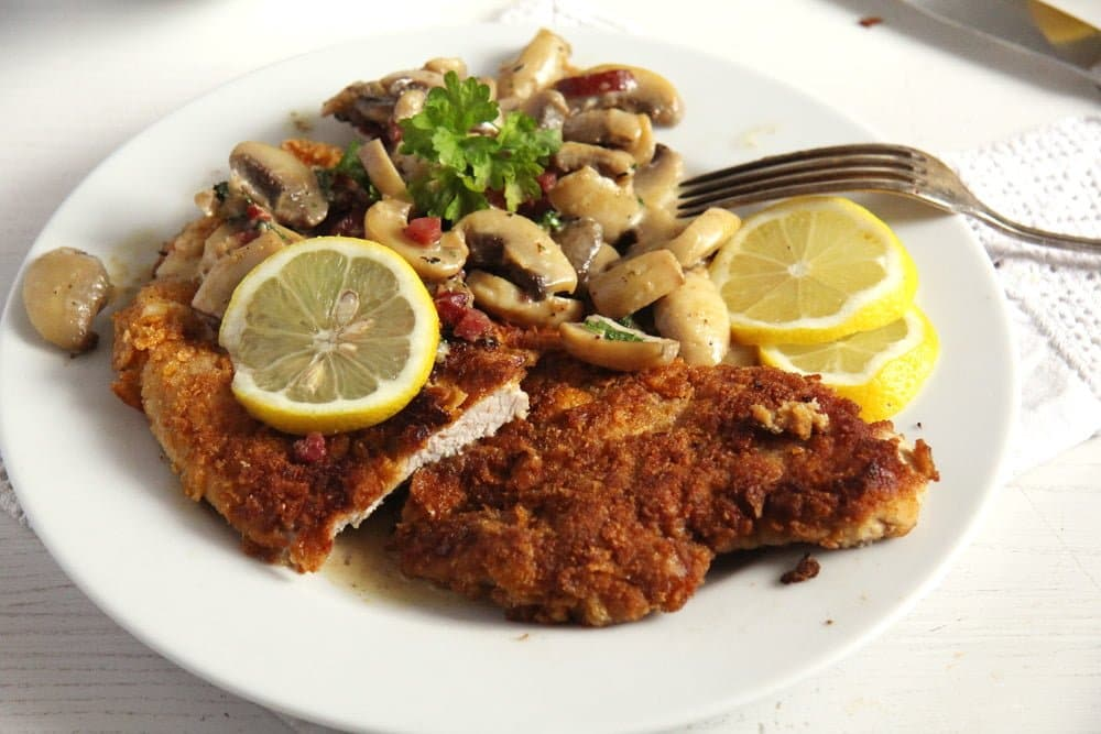 schnitzel hunter Tender Pork Tenderloin with a Herb Breadcrumb Crust
