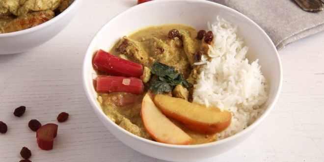 Rhubarb Chicken Curry