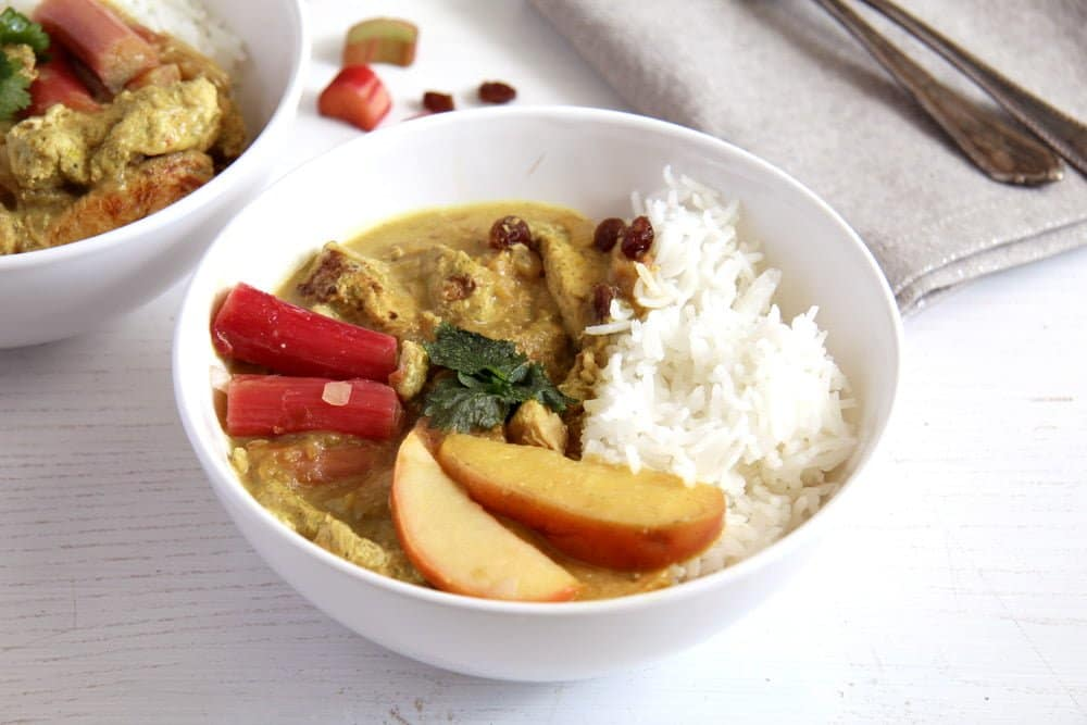 rhubarb chicken stew Vegan Zucchini Cashew Green Curry with Chickpeas