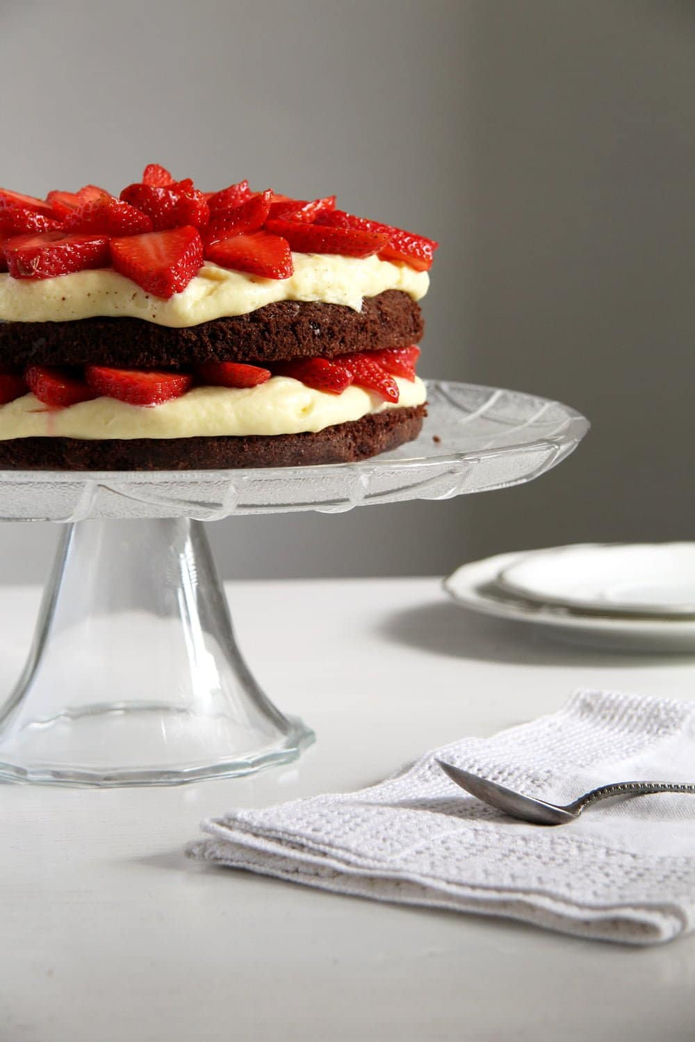 brownie cake strawberry Brownie Strawberry Torte