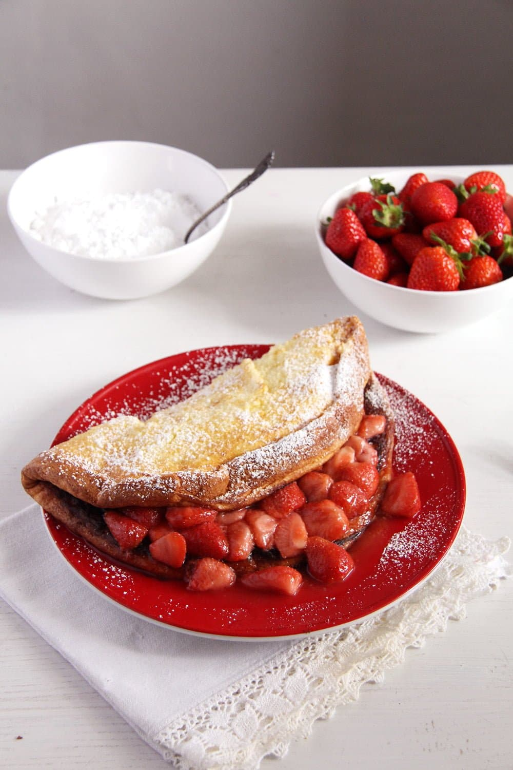 strawberry sauce pancake Oven Pancakes with Strawberry Sauce