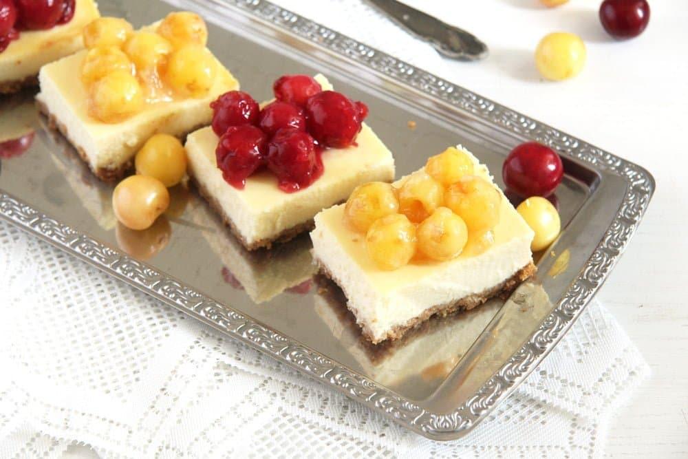 cherry cheese sour cream Creamy Cheesecake with Fresh Cherry Pie Filling