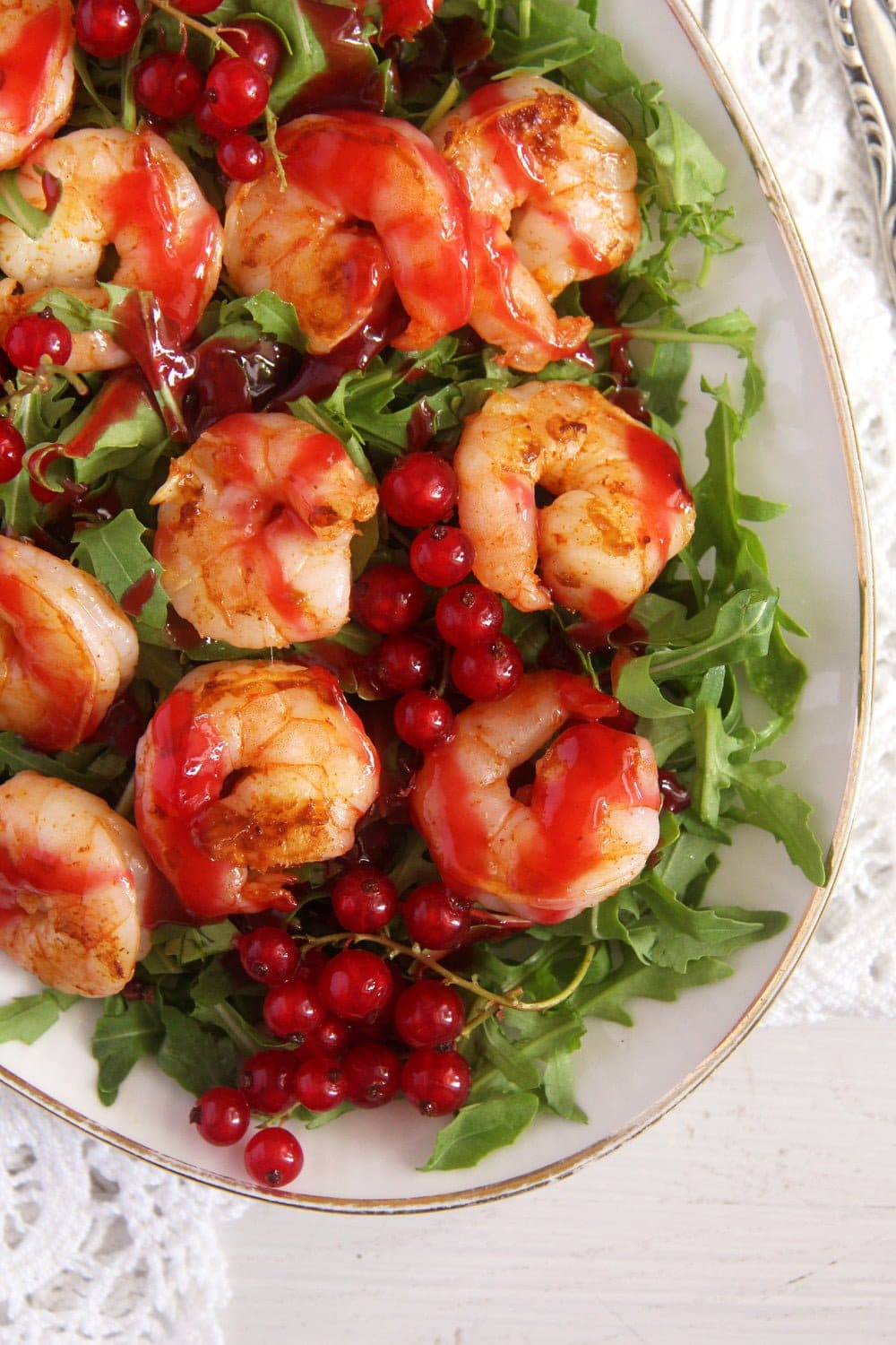 red currant shrimps Tiger Prawns with Red Currant Sauce